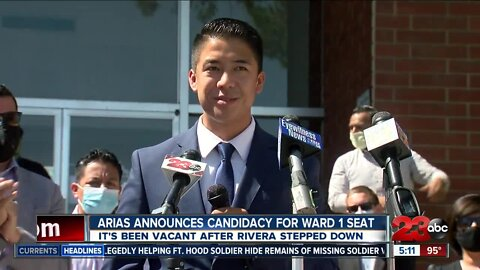 Arias announces candidacy for Ward 1 seat