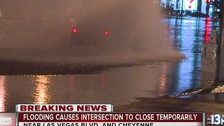 Heavy flooding on Las Vegas Boulevard, Cheyenne - Video