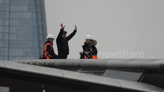 Tom Cruise spotted filming 'Mission: Impossible' stunt in London - Video