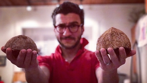 Canadian Man Has Tortured Relationship With Coconuts