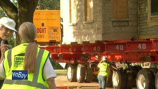 Historic Home moved in Appleton - Video