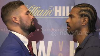 Intense! Bellew and Haye go head-to-head as rematch draws closer - Video