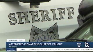 Attempted kidnapping suspect caught