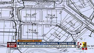 Public hearing on controversial zoning issue - Video