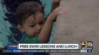 Free swim lessons and  lunch - Video