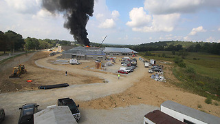 Fire breaks out at construction site for Chippewa school - Video