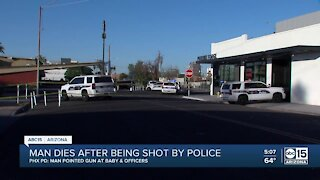 Man dies after being shot by police in Phoenix