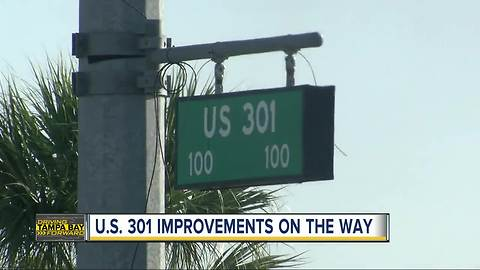 Planned improvements for dangerous stretch of U.S. 301 including widening road to six lanes
