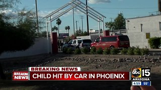 Child in critical condition after being hit by family vehicle in Phoenix