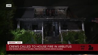 Woman critically injured in Arbutus fire