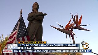 Chula Vista to discuss fate of Christoper Columbus statue