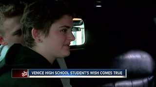Venice teen battling cancer gets the surprise of a lifetime