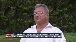 Florida man stuck in Texas during Hurricane Harvey now braces for Hurricane Irma - Video