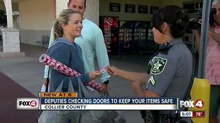 Deputies warn shoppers to lock their car doors, hand out gifts