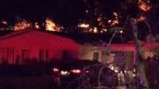 Neighbor Captures Flames Rising From San Marcos Apartment Fire - Video