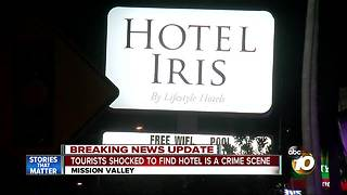 Tourists shocked to find hotel is a crime scene - Video