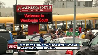 A student with a gun was shot inside of a classroom at Waukesha South High School on Monday