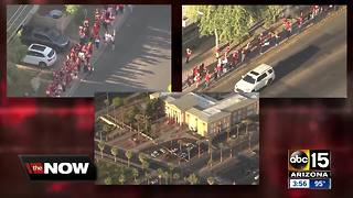 Arizona teachers stage walk-ins at Valley schools
