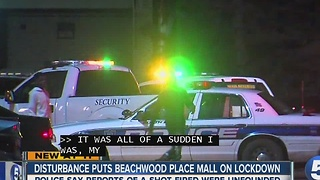 Disturbance shuts down mall - Video