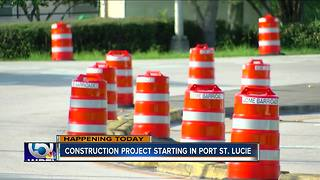 Construction project starting in Port St. Lucie - Video