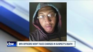 Buffalo police officers won't face charges in suspect's death - Video