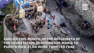 Tesla Makes Significant Progress on Solar Power Relief in Puerto Rico - Video