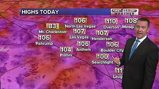 13 First Alert Las Vegas weather updated August 2nd morning