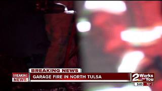 Fire crews sent to early morning house fire in North Tulsa - Video