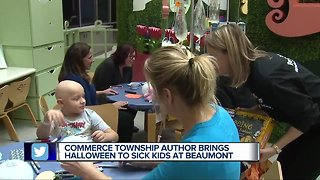 Commerce Township author brings Halloween to sick kids at Beaumont