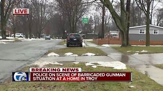 Barricaded gunman situation continues in Troy - Video