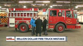 Million dollar fire truck mistake - Video