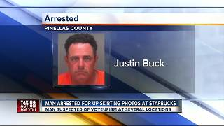Man arrested for taking 'upskirt' photos of woman at Starbucks - Video
