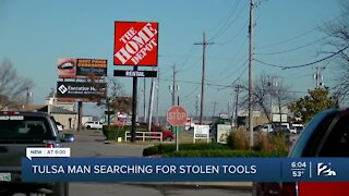 Tulsa man searching for stolen tools
