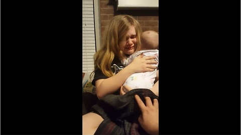 Mom doesn't want baby to grow up, breaks down in tears