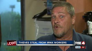 Thieves Steal From Hurricane Irma Workers - Video