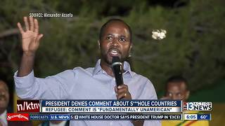 Las Vegas African refugees angered over President Trump's controversial comments - Video