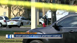 Hillsborough County deputies investigate child drowning at Brandon apartment complex - Video