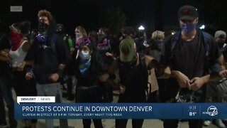 Protesters form human chain near Colorado State Capitol