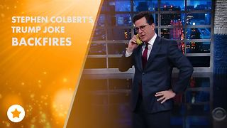 Colbert refuses to apologize over Trump joke - Video