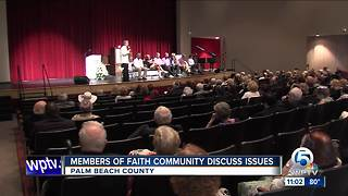 Members of faith community in Palm Beach County discuss issues - Video