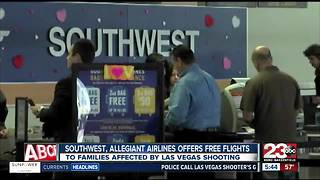 Free flights for Las Vegas victim's families - Video
