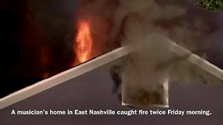 Musician's Home Destroyed By Fire; Pets Killed - Video