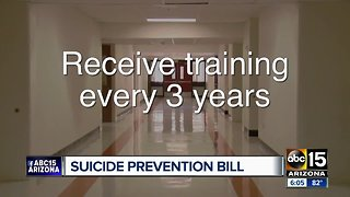 Mental health training bill being considered for Arizona schools