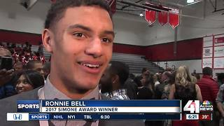Park Hill HS football player wins Simone Award - Video