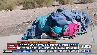 Boat and other trash dumped on Northeast valley roadway - Video