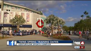 Twins announce spring training 2019 schedule
