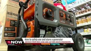 How to safely use and store a generator - Video