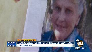 Mother of 8 killed by Fedex truck - Video