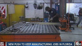 New effort underway to keep and create manufacturing jobs in Florida