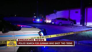 Two teenagers shot across the street from Busch Gardens - Video